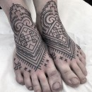 berber inspired tattooed feet