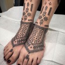 kalinga and berber inspired tattooed feet