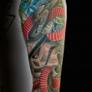 full colour sleeve of star wars storm troopers and a large snake