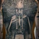 gothic style sci-fi back piece